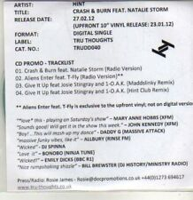(CU37) Hint, Crash & Burn ft Natalie Storm - 2012 DJ CD