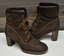 $130  Timberland Earthkeepers Glancy 6 in Boot Brown Leather Womens 8.5 M EUC