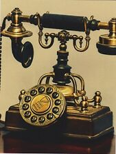 "*Postcard-""The Brass Antique Telephone""  ...Classic-"