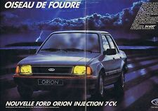 PUBLICITE ADVERTISING 045 1984 FORD Orion injection 7 cv (2 pages)