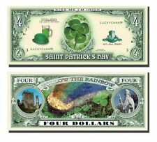 5 Factory Fresh St. Patricks Four Dollar Bill