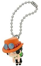 One Piece Linked Swing Mascot PVC Keychain SD Portgas D. Ace Figure @92193