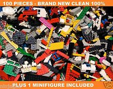 LEGO 100+ Clean New Pcs FROM HUGE BULK LOT w/ 1 MINIFIGURE Mint / Cheap Price