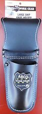 ABCO WORK GEAR 1370-1 3 Pocket Leather Utility Holder, BRAND NEW