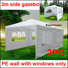 3m folding outdoor wedding Gazebo Marquee Side Panel Wall with window PE White