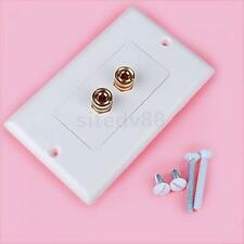 Budget 1 Speaker Cable Wall Plate Gold 2 Banana Plug for Audio Video Cable