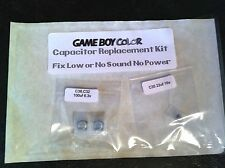 Game Boy Color Colour Capacitor Replacement Repair  Kit Fix Sound & No Power