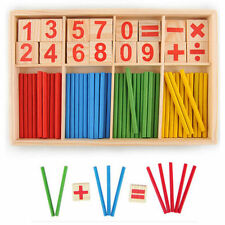 Children Wooden Numbers Mathematics Early Learning Counting Educational Toy HOT