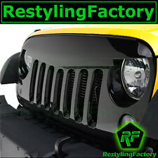 07-16 Jeep JK Wrangler Sport Sahara Front Hood Black Replacement Grille Shell