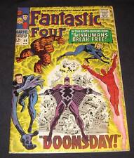 FANTASTIC FOUR #59 Fn 12¢ cover Marvel Comic | INHUMANS BREAK FREE! - DOOMSDAY!