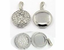 Essential Oil Diffuser Solid Perfume locket aromatherapy necklace filigree 750x