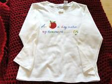 "NWT SIZE 10 GIRLS TALBOTS  KIDS  COTTON SHIRT VERY CUTE ""AN APPLE A DAY"" SEQUINS"