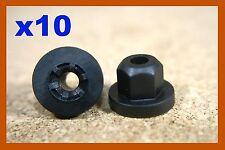 10 tuercas de rosca de plástico BMW 4mm de diámetro agujero Motor Bajo Bandeja Salpicadura Cubierta