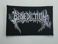 BENEDICTION DEATH METAL WOVEN PATCH