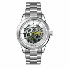 NEW ROTARY GB00157/06 SKELETON AUTOMATIC WATCH - 2 YEARS WARRANTY