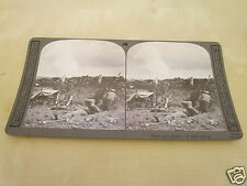 WW1 STEREOVIEW - BOMB GUN SECTION - A SHELL ARRIVES