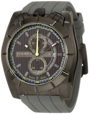Haurex Italy Men's 3J362UGG Android Chronograph Black PVD Case Rubber Watch