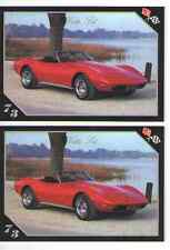 1973 Chevy Corvette Roadster Baseball Card Sized Cards - lot of 2 - Must See !!