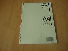 A4 Twinwire Spiral Plain Notebook Drawing Book Sketching Book 80 Pages