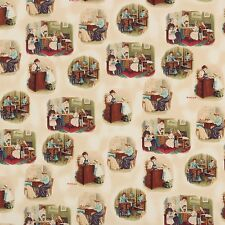 Singer Sepia Vintage Sewing Toile Robert Kaufman Cotton Sewing Fabric #5503