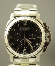 PANERAI LUMINOR EL PRIMERO CHRONOGRAPH PAM72 SS/TITANIUM MENS WATCH LIMITED