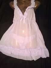 Adore Sheer Soft Babydoll Matching Knickers Ladies Nightwear Size 12/14 M BNWT