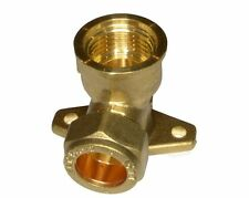 15mm x 1/2 Inch Female BSP Outside Tap Wall Plate Elbow