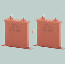 2 uF 630 V LOT OF 2 RUSSIAN PAPER PIO AUDIO CAPACITORS MBGO МБГО-2
