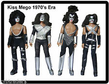 Kiss Mego Dolls Refrigerator / Tool Box / Locker  Magnet Gift Card Insert