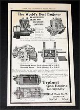 1904 OLD MAGAZINE PRINT AD, TREBERT GAS ENGINES & TRANSMISSIONS, WORLD'S BEST!