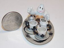 Dollhouse Miniature Halloween Tea Set N Teapot & Tray one inch scale 1:12 G43