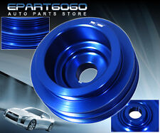 HONDA ACURA B16A ENGINE MOTOR BAY BLUE UNDERDRIVE CRANK PULLEY RACE PERFORMANCE