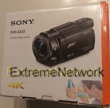 *BRAND NEW* SONY - Handycam FDR-AX33 4K Camcorder Exmor R Wi-Fi NFC 20.6M 120FPS