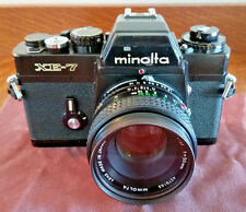 Minolta XE-7 Black 35mm Camera w/50mm f/1.7 MC ROKKOR-X PF LENS + Case