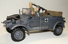 1:18 21st Century BBI Elite WWII German Kubelwagen Military Vehicle w/ Figures