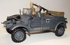 1:18 21st Century BBI Elite WWII German Kubelwagen Military Vehicle w/ Figures