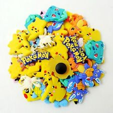 50pcs Cartoon Pikachu Pokemon Go Shoe Charms Fit Kid Boy Croc Jibbitz Wristbands