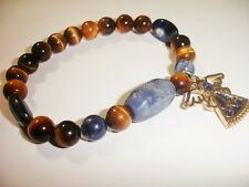 Tiger Eye Sodalite Angelic Communication to Archangel Michael Prayer Bracelet