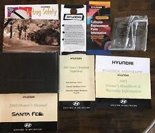 2003 Hyundai Santa Fe Owner Manual Complete Set