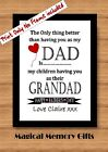 father's day print or canvas gift dad word art daddy grandad personalised love