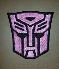 Transformer Autobot Pink & Black Logo Movie, Embroidered Patch/ Badge