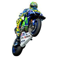 STICKER MURAL Géant 150 x 100 cm - Moto GP Yamaha Valentino ROSSI (Wheeling)