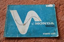 HONDA SS50 SPORTS MOPED HONDA PARTS LIST