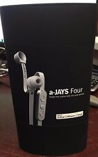 a-JAYS Four Headset with Mic & Remote Tangle Free Cables for Iphone Ipod White