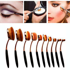Party Queen New 10Pcs  Oval Cream Puff Brushes Tooth Design Makeup Brush Set