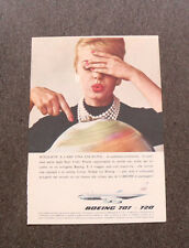 L952- Advertising Pubblicità -1960- AVIOGETTO BOEING 707 E 720