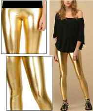 Sexy Glanz Leggings Leggin Leggins Gold Metallic 38 40 M