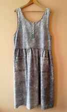 80s 90s vintage acid washed cotton pinafore dress 18 new wave grunge