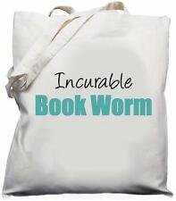 Incurable Book Worm - Natural (Cream) Cotton Shoulder Bag