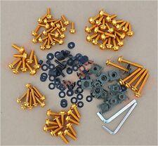 Gold Fairing Bolts Kit Windscreen Screw for Kawasaki NINJA ZX6R ZX9R ZX10R